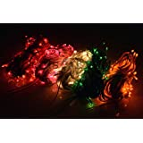 ASCENSION Set Of 3 Rice Lights Serial Bulbs Decoration Lighting For Diwali Christmas
