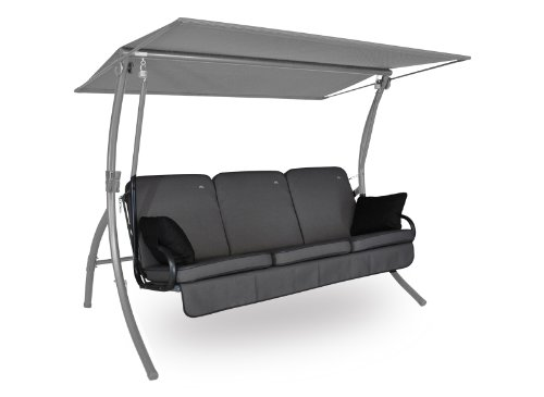 Angerer-Primero-Style-Schaukelauflage-Style-Grau-3-Sitzer-ohne-Schaukel