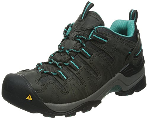 KEEN Women's Gypsum WP Hiking Shoe, Raven/Baltic, 7.5 M US