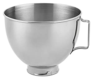 KitchenAid K45SBWH Bowl for Pivot Head Stand Mixer, 4.5 Quart