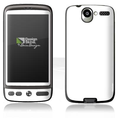 Design Skins für HTC Desire - White Design Folie