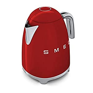 Smeg TSF01RDUK KLF01RDUK | 50s Retro Style 2 Slice Toaster & Kettle Set in Red from Smeg