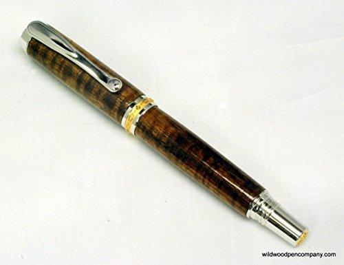 hand-made-statesman-ii-rhodium-gold-wood-pen-made-with-hawaiian-curly-koa
