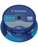 Verbatim 43772 Blu ray BD-R simple couche LTH Anti-rayures 6x 25 Go Pack de 25