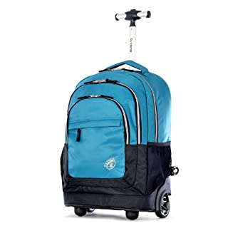 Olympia Gen-X 19 Inch Rolling Backpack, Blue, One Size