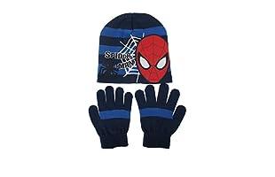 MARVEL Conjunto Gorro y Guantes Web Spider (Azul Marino)