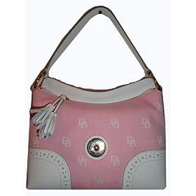 Women's Dooney & Bourke Purse Handbag Medium Slouch Pink Signature