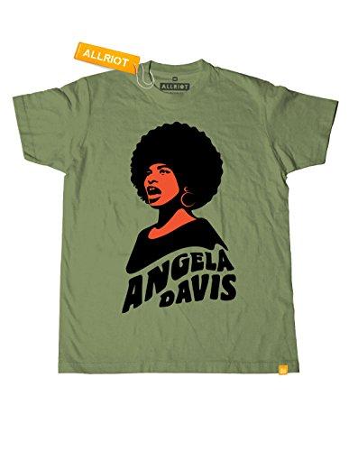 Angela Davis T-shirt - Black Power Activist Tshirt - ALLRIOT (M, Khaki) (Free Angela Davis compare prices)