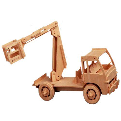 3-D Wooden Puzzle - Elevator Truck Model -Affordable Gift for your Little One! Item #DCHI-WPZ-P025