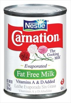 Carnation Evaporated Milk Can - Fat Free - 12 oz (Canned Evaporated Milk compare prices)