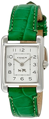 Green Leather Rectangular Dial Ladies Watch