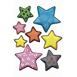 Herma Stickers Velvet puffy colourful starsby Herma