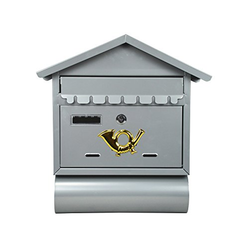 ALEKO-USMB-02-Wall-Mounted-Mail-Box-with-Retrieval-Door-2-Keys-and-Newspaper-Compartment