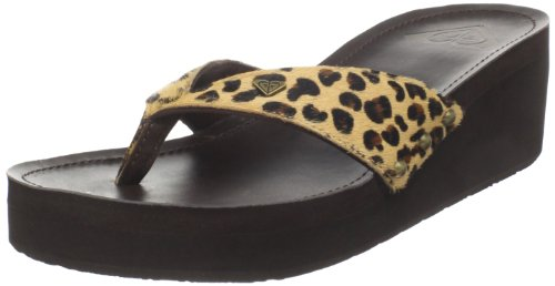 Roxy Women's Julie Wedge Sandal,Cheetah print,9 M US