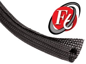 Techflex 1 F6 Split Sleeving 25 feet Black