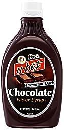 Chocolate Syrup, Fox\'s u-bet Premium Dark Chocolate Flavor Syrup 20oz