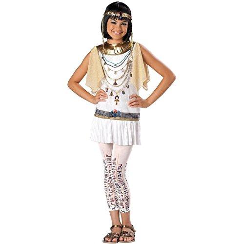 GSG Girls Cleopatra Costume Kids & Tween Egyptian Halloween Fancy Dress (Tween Elsa Costume)