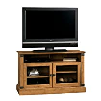 Big Sale Sauder Registry Row Panel TV Stand, Amber Pine