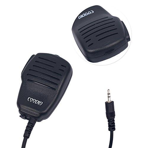 Coodio CB1MIC1 Cobra MicroTalk 1-Pin Microfono Altoparlante con Controllo Volume e Presa Auricolare la Sicurezza e Bodygurad Per Presa 1 pin Cobra Radio Walkie Talkie Ricetrasmittente PMR