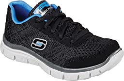 Skechers Boys\' Flex Advantage Master Quest Sneaker,Black/Blue,US 2 M