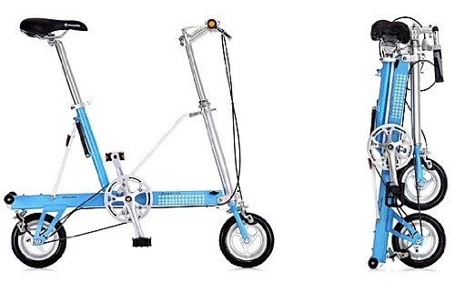 CarryMe USA SD-B Sky Blue Bike Single Speed Portable Folding Pedal Bicycle