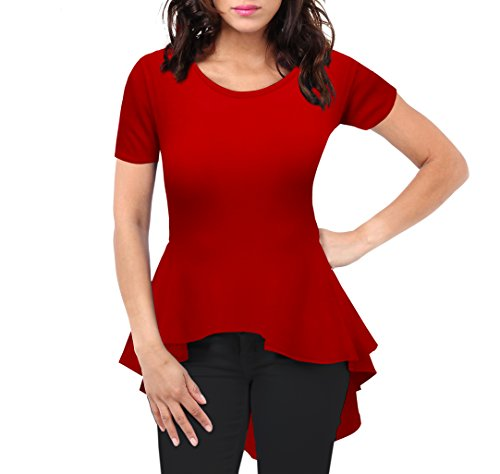 womens-loose-fit-high-low-peplum-tunic-top-kt44136x-red-3x