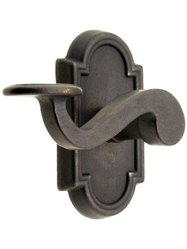 Solid Bronze Tuscany Door Set With Padua Levers Right Hand Passage Medium Bronze. Door Hardware. front-733719