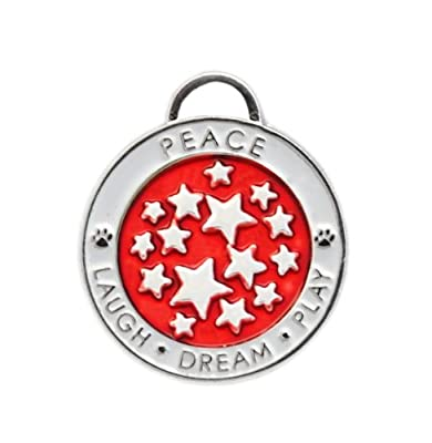 Luxepets Pet Collar Charm, Star, Red
