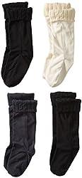 Steve Madden Legwear Women's Four Pack Solid Fleece Bootliner
