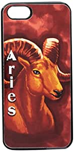 Graphics and More Aries Ram Zodiac - Horoscope Astrology Sign - Snap-On Hard Protective Case for Apple iPhone 5/5s - Non-Retail Packaging - Black
