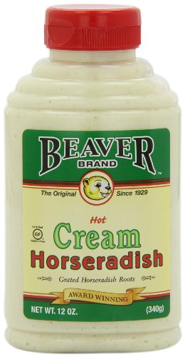 Beaver Brand Cream Style Horseradish, 12-Ounce Squeezable Bottles (Pack of 6)