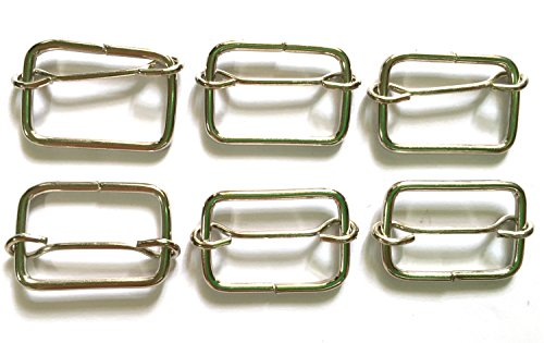 25 Pcs Silver Tone Rectangle Slider, Buckle, Findings for Bag Size 22 X 16 Mm