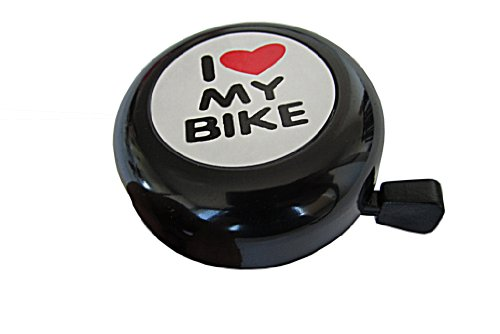 Bicycle Bell I Love My Bike black steel by Biria