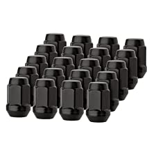 DPAccessories LCB3B2HE-BK04020 20 Premium Black Closed Acorn Wheel/Lug Nuts (1/2-20) 1.39″ Tall, 3/4″ Hex