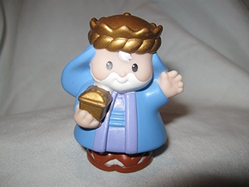 Fisher Price Little People RARE Three Kings Celebration Play Set BEARDED WISEMAN Blue Robes OOP 2002 - 1