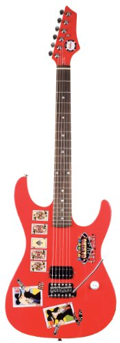 Axl As-711-Rd Poker Electric Guitar, Red