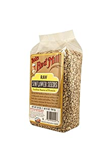 Bob's Red Mill Natural Raw Sunflower Seeds, 20-Ounce Packages (Pack of 4)