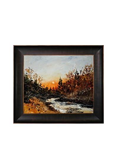 "Pol Ledent ""River Lesse"" Framed Canvas Print"