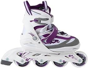 Ultrasport Rollers U-Turn pour enfants/adolescents à taille réglable - Blanc/Pourpre - Taille: 32-36