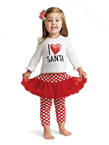 Bebone Baby Girls I love Santa Cotton Outfits (Santa,3T)