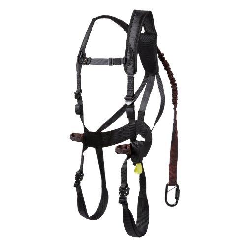 Gorilla Treestands Men's G-TAC Air Safety Harness, Black