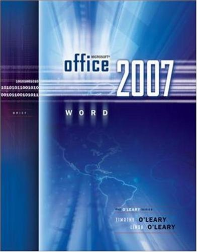 Microsoft Office Word 2007 Brief (The O'Leary Series)
