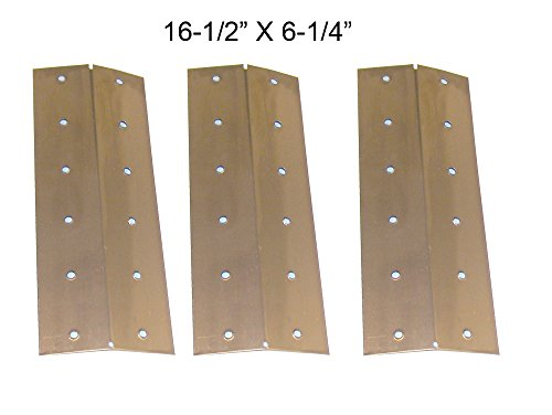 (3-pack) Replacement Stainless Steel Heat Shield for Nexgrill, Capt's Cook, Coleman and Turbo Gas Grill Models