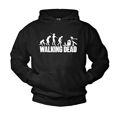 The Walking Dead-Felpa con cappuccio da uomo professionale, colore: nero, nero, x-large