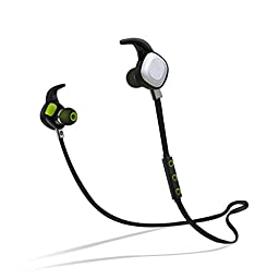 PLAY X STORE Stereo Wireless Bluetooth Sports Headphone With NFC And Microphone, Magnet Attraction Technology, Ultra-light, Waterproof, English Voice Prompt, Black