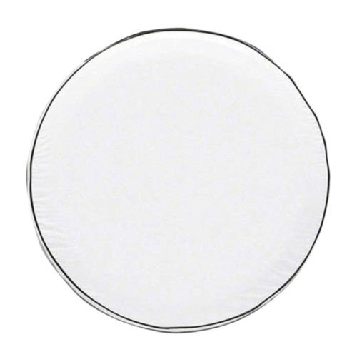 Classic Accessories 75130 OverDrive Custom Fit Spare Tire Cover, White, 26.75