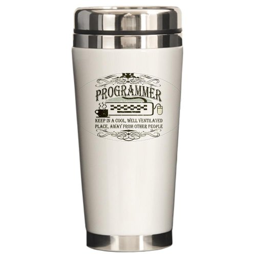 CafePress - Vintage Programmer - Stainless Steel Travel Mug, Insulated 16 oz. Coffee Tumbler