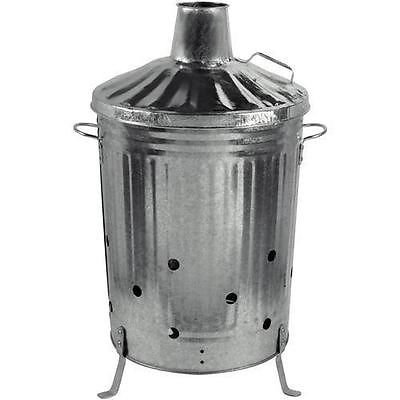 Large Garden Burning Fire Incinerator Galvanised 90l Wood Leaves Rubbish Bin from OnlineDiscountStore