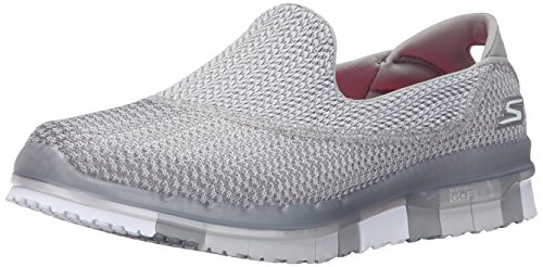 Skechers Performance Women's Go Flex Extend Walking Shoe, Gray/White, 9 M US