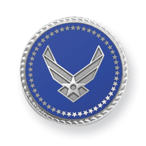 Air Force Rhodium Finish Tie Tac